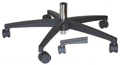 Black All Metal Large Gas Desk Chair Base