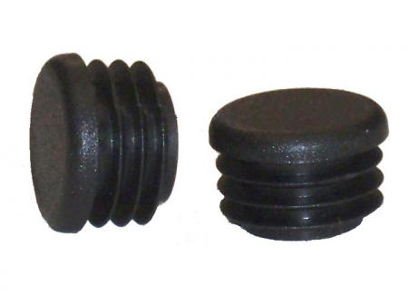 Glide Round Black Plastic