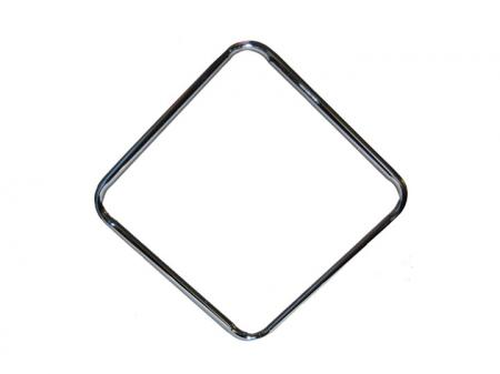Square Metal Bar Stool Ring Chrome 15 1/2