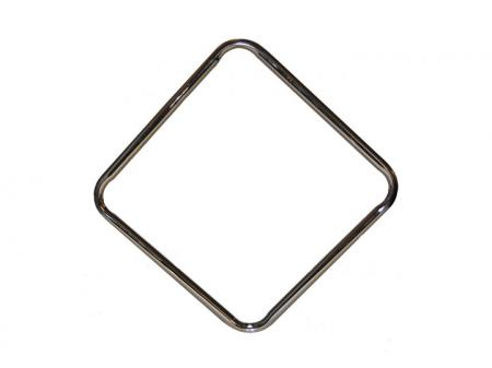 Square Metal Bar Stool Ring Brass 15 1/2