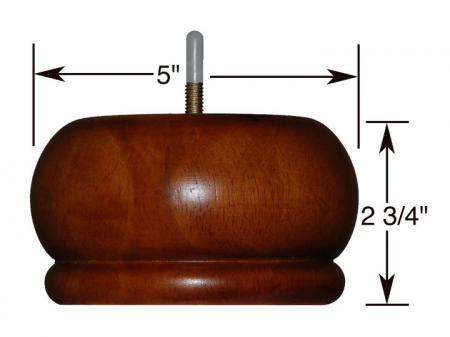 Couch Leg, Medium Walnut 2 3/4