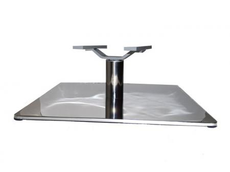Square Stainless Steel Polished Chair Base with Lounge Swivel