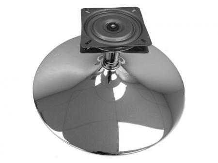 Round Base Polished Chrome and Swivel