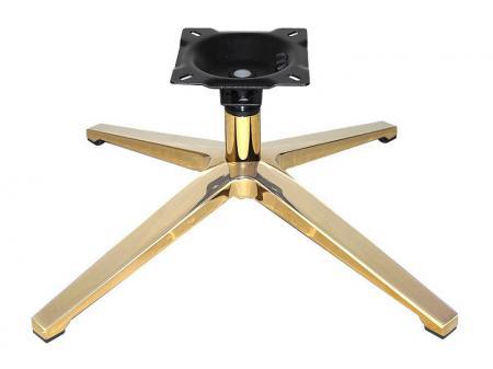 "Gold 28"" diameter Memory Return Swivel Chair Base"