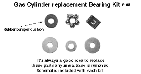 Gas Cylinder Bearing Kit Schematic